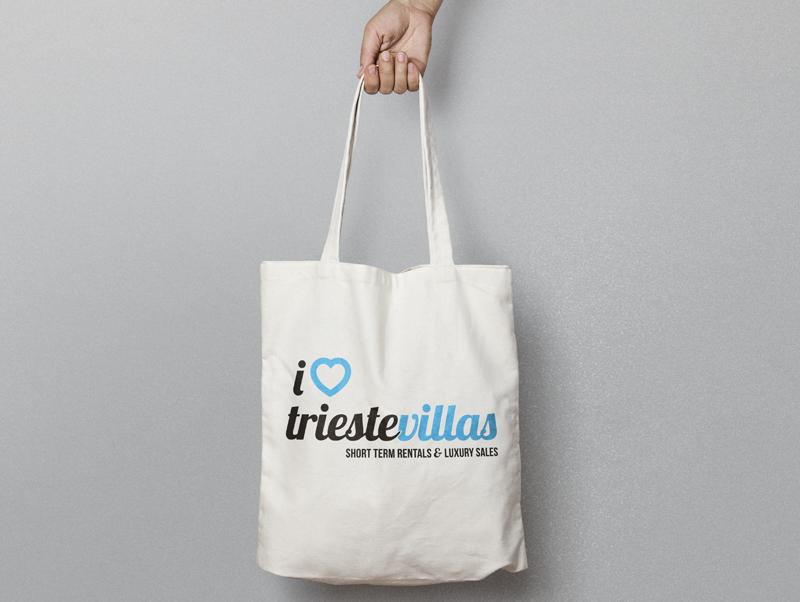 Borsa tela personalizzata Trieste Villas