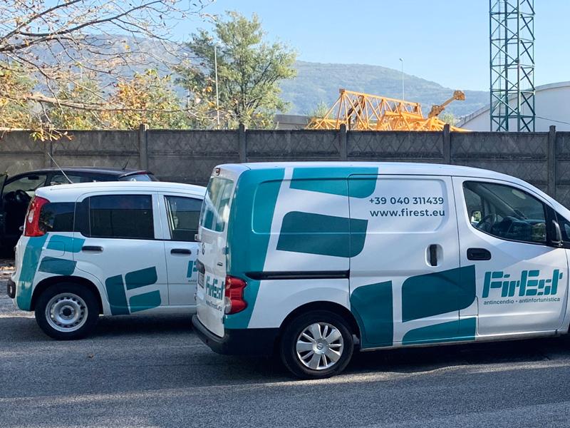 Furgoni aziendali personalizzati Trieste - Grafica