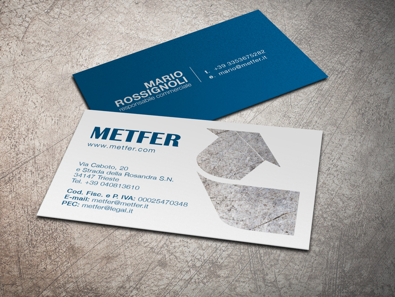 Biglietto da visita personalizzato aziendale Metfer