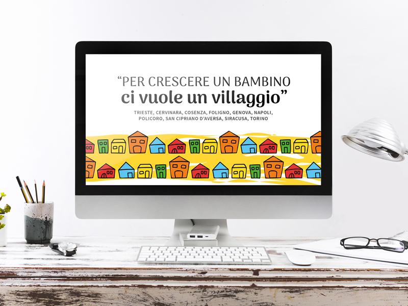 Grafica social Un villaggio per crescere