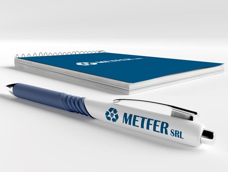 Penna e bloc notes personalizzato Metfer