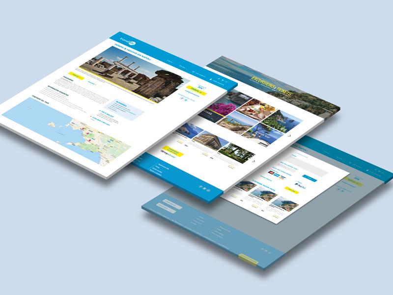 Layout sito turismo Travel Etc