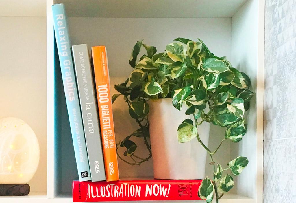 Immagine libri di grafica e pianta dello studio