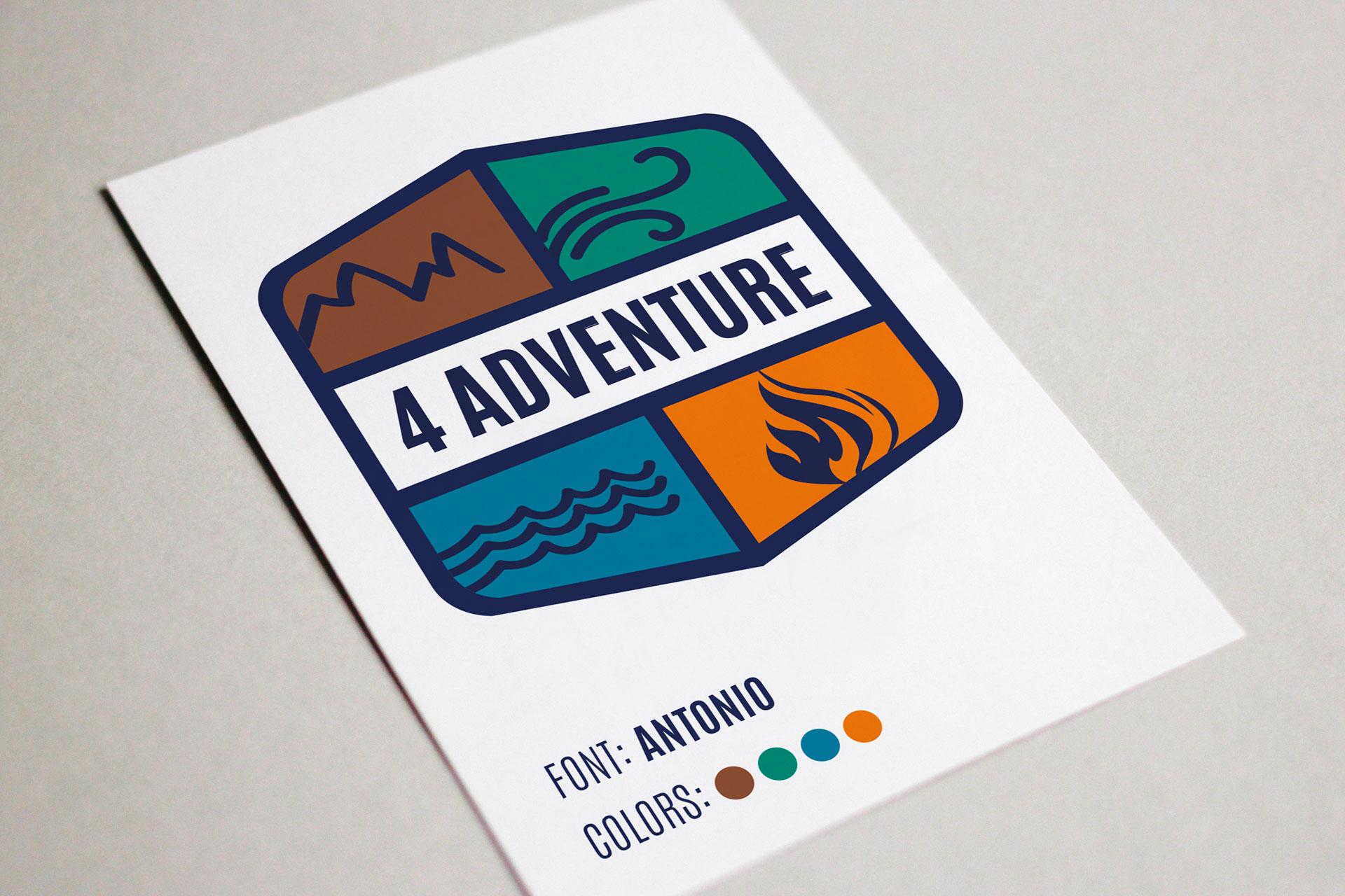Logo 4adventure su foglio A4
