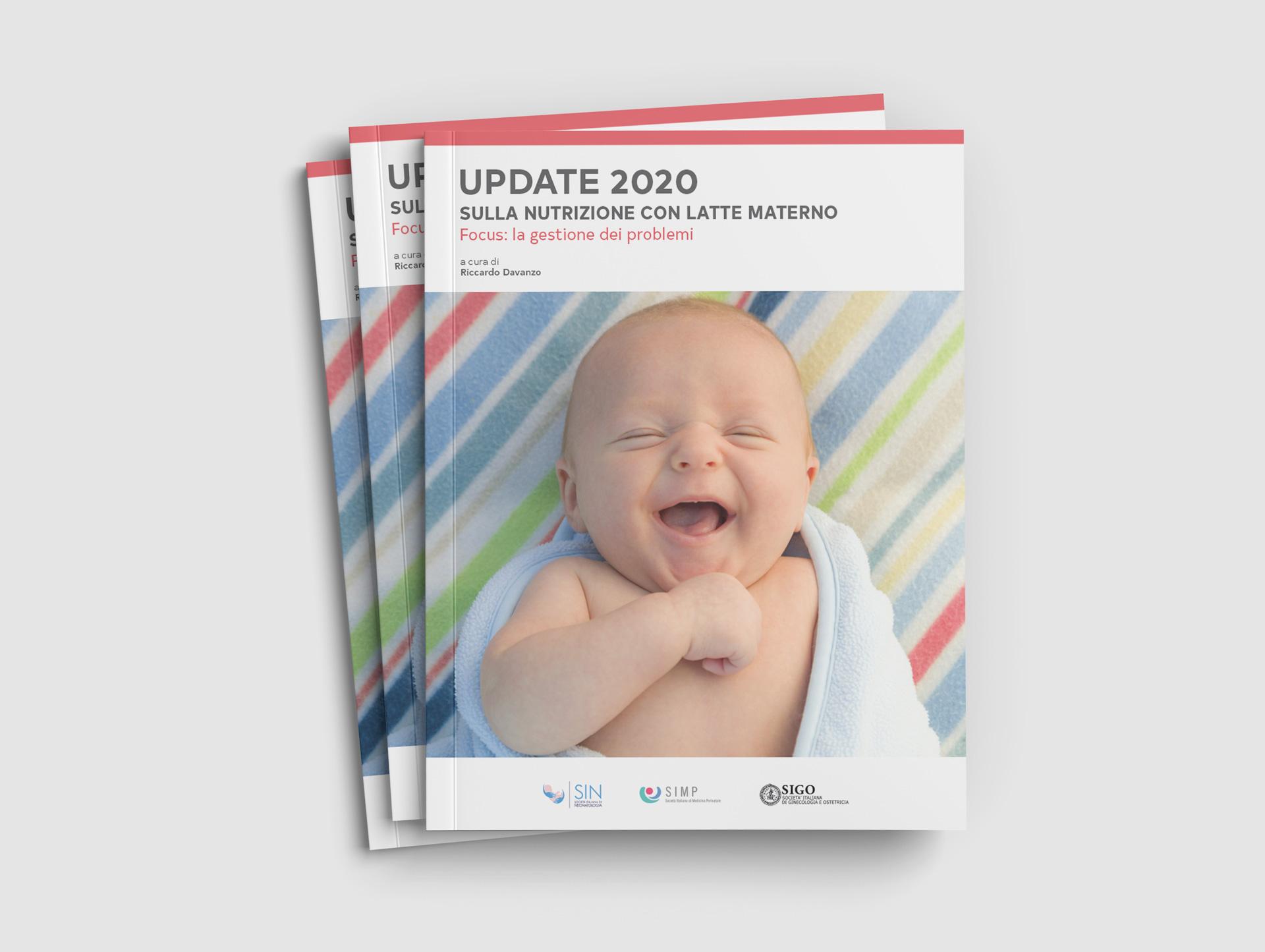 Copertina volume Update2020 con bambino che sorride